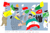 Cartoon: Funeral of General (small) by gungor tagged iran