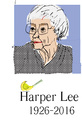 Cartoon: Harper Lee (small) by gungor tagged united,states