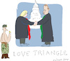 Cartoon: Love Triangle (small) by gungor tagged usa