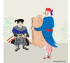 Cartoon: Samurai (small) by gungor tagged japan