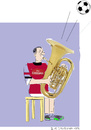 Cartoon: Tuba player (small) by gungor tagged music