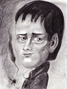 Cartoon: Heinrich von Kleist (small) by Tomek tagged german poet and romance writer