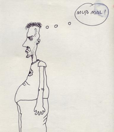 Cartoon: Muss mal (medium) by commandercollapse tagged collapse