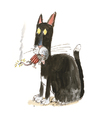 Cartoon: Ohne Titel (small) by Peter Bauer tagged terrorismus,katzen,maus,mäuse
