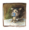 Cartoon: Ohne Titel (small) by Peter Bauer tagged katzen,nuckel,baby,peter,bauer