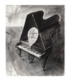 Cartoon: Schwarze raus! (small) by Peter Bauer tagged rassismus,klavier,peter,bauer,black,and,white