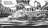 Cartoon: Crocodile tears (small) by Summa summa tagged crocodile,tears,nato,libya,oil,war,krokodilstränen