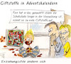 Cartoon: Advent (small) by Lupe tagged advent,kalender,adventskalender,schokolade,kidner,eltern,erziehung,schadstofe,gifte,lebensmittel,gift,schadstoff,verpackung,weihnachten