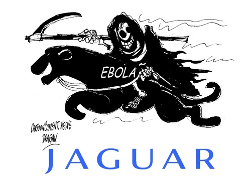Cartoon: Ebola-JaguarAna Mato (medium) by Dragan tagged ebola,jaguarana,mato,corrupcion,partido,popular,pp,sanidad,espana,politics,cartoon