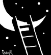 Cartoon: romance (small) by johnxag tagged fly flight moon romantic night stars johnxag