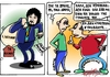 Cartoon: suspicious minds (small) by johnxag tagged johnxag,politicians,debt,greek,corruption