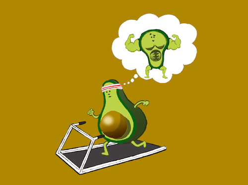 Cartoon: Avocado Dream... (medium) by berk-olgun tagged avocado,dream
