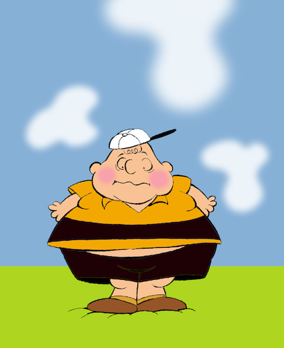 Cartoon: Fat Charlie Brown... (medium) by berk-olgun tagged fat,charlie,brown