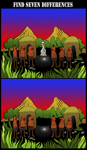 Cartoon: Find the Seven Differences... (medium) by berk-olgun tagged find,the,seven,differences