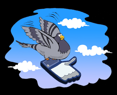 Cartoon: Mail Pigeon... (medium) by berk-olgun tagged mail,pigeon
