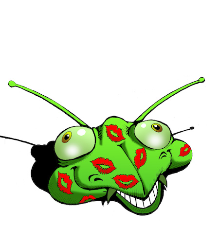 Cartoon: Mantis... (medium) by berk-olgun tagged mantis
