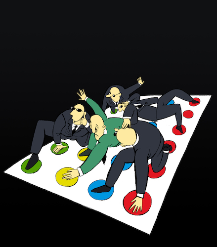 Cartoon: Political Twister... (medium) by berk-olgun tagged political,twister