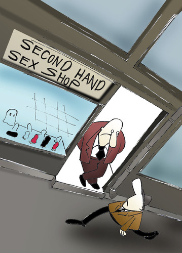 Cartoon: SEX SHOP.. (medium) by berk-olgun tagged shop