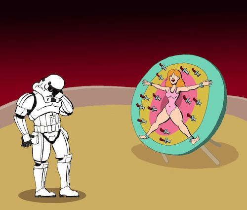 Cartoon: Stormtrooper... (medium) by berk-olgun tagged stormtrooper