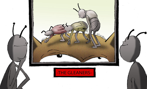Cartoon: The Gleaners... (medium) by berk-olgun tagged the,gleaners