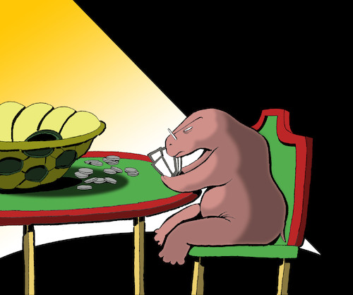 Cartoon: Turtle Poker... (medium) by berk-olgun tagged turtle,poker