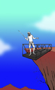 Cartoon: Absurd Bungee Jumping... (small) by berk-olgun tagged absurd,bungee,jumping
