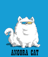 Cartoon: Angora Cat... (small) by berk-olgun tagged angora,cat
