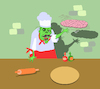 Cartoon: Brain Pizza... (small) by berk-olgun tagged zombie