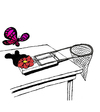 Cartoon: Butterflytrap... (small) by berk-olgun tagged butterflytrap
