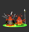 Cartoon: Cannibal Lobster... (small) by berk-olgun tagged cannibal,lobster