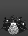 Cartoon: Cannibals Birthday... (small) by berk-olgun tagged cannibals,birthday