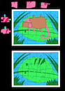 Cartoon: Chameleon Puzzle... (small) by berk-olgun tagged chameleon,puzzle