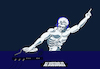Cartoon: Dj Discobolus... (small) by berk-olgun tagged dj,discobolus