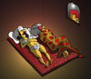 Cartoon: Indian Couple... (small) by berk-olgun tagged indian,couple