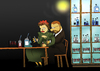 Cartoon: Mr. and Mrs. Curie... (small) by berk-olgun tagged mr,and,mrs,curie