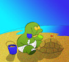 Cartoon: Sand Castle... (small) by berk-olgun tagged sand,castle