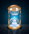 Cartoon: Snowman Sand Clock... (small) by berk-olgun tagged snowman,sand,clock