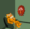Cartoon: Tiger vs Mask... (small) by berk-olgun tagged tiger,vs,mask