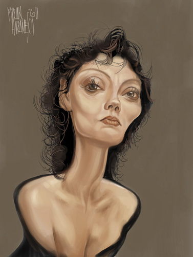 Cartoon: SUSAN (medium) by Marian Avramescu tagged mmmmmmmmmmm