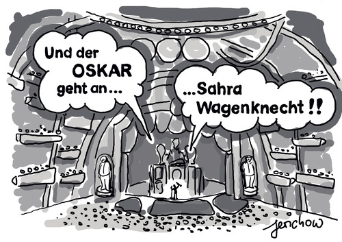 Cartoon: Oskarverleihung (medium) by jerichow tagged oskar,lafontaine,sahra,wagenknecht,oscarverleihung,die,linke,seelenverwandschaft,oskar,lafontaine,sahra,wagenknecht,oscarverleihung,die,linke,seelenverwandschaft