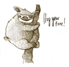 Cartoon: hug your tree (small) by jenapaul tagged tree,nature,sloth,animals,funny,sketch