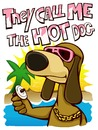 Cartoon: they call me the hot dog (small) by jenapaul tagged dogs,animals,fun,holidays,sun,hot,vacation,sea