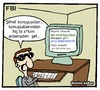 Cartoon: FBI (small) by ibrahimkalkan tagged fbi