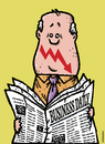 Cartoon: Crisis smile (small) by svitalsky tagged crisis,smile,newspapers,business,economy,money,graph,down,cartoon,svitalsky,svitalskybros
