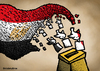 Cartoon: Egypt election (small) by svitalsky tagged egypt election vote wahl fight voting cartoon illustration color svitalsky svitalskybros flag agypten