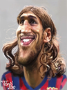 Cartoon: Dmitro Chigrinski FC Barcelona (small) by Tonio tagged football
