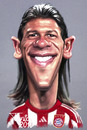 Cartoon: Martin Demichelis FC Bayern (small) by Tonio tagged munich münchen argentin nationalelf football fussball