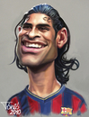 Cartoon: Rafael Marquez FC Barcelona (small) by Tonio tagged football
