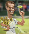 Cartoon: Andy Murray (small) by zsoldos tagged tennis,sport,murray,chanpion