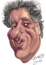 Cartoon: Geoffrey Rush (small) by zsoldos tagged caricature